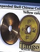 Expanded Shell - Chinese Coin - Brass (Yellow) Gimmicked coin