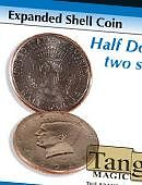 Expanded Shell - Half Dollar (Two Sided) Gimmicked coin
