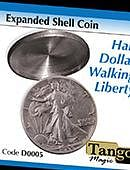 Expanded Shell - Walking Liberty Half Dollar Gimmicked coin