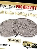 Flipper - Pro Gravity - Walking Liberty - Silver Gimmicked coin