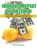 Improved Repeat Bill in Lemon - Version 2 Book
