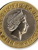 3in Jumbo Coin - 2 British Pounds Gimmicked coin