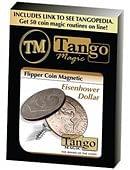 Magnetic Flipper Coin Eisenhower Dollar Trick