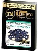 Magnetic Poker Chip plus 3 regular chips Trick