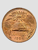 Mexican Centavo Coin (20 Cent Coin | Single Coin) Accessory