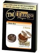 Okito Coin Box (Brass) - 2 Euro Trick