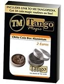 Okito Coin Box Aluminum 2 Euro Trick