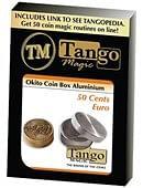 Okito Coin Box Aluminum 50 cent Euro  Tango Trick