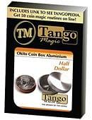 Okito Coin Box Aluminum Half Dollar Trick