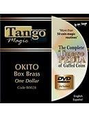 Okito Coin Box (Brass) - Dollar Coin Trick