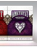 Ornate White Edition Playing Cards (Amythyst) Deck of cards