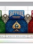 Ornate White Edition Playing Cards (Sapphire)