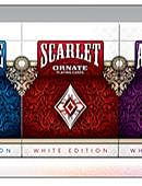 Ornate White Edition Playing Cards (Scarlet)