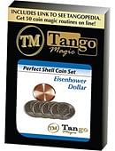 Perfect Shell Coin Set Eisenhower Dollar Trick
