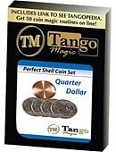 Perfect Shell Coin Set Quarter Dollar Trick