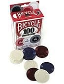 Plastic Poker Chips (Bicycle) - 100 Count Accessory