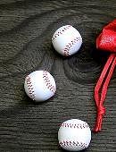 Set of 4 Leather Balls for Cups and Balls