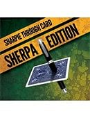 Sharpie Through Card SHERPA Version  Blue Trick