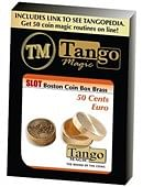 Slot Boston Coin Box (Brass) - 50 Euro Cents Trick