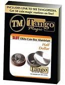 Slot Okito Coin Box (Aluminum) - Half Dollar Trick