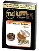 Slot Okito Coin Box (Brass) - 2 Euro Trick