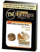 Slot Okito Coin Box Brass 50cent Euro Trick