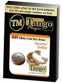 Slot Okito Coin Box (Brass) - Quarter Trick