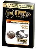 Slot Okito Coin Box (Aluminum) - Quarter Gimmicked coin