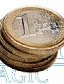 Stack of Coins - 1 Euro Gimmicked coin