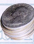 Stack of Coins - Quarter Dollar Gimmicked coin