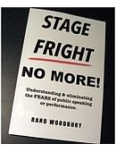 STAGE FRIGHT - NO MORE! Book
