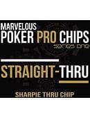 Straight Thru (Sharpie Thru Poker Chip) Gimmicked coin