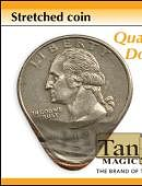 Stretched Coin - Quarter Gimmicked coin