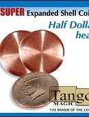 Super Expanded Shell - Half Dollar (Heads) Gimmicked coin