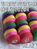 Throw Streamers Multi-Colored (10 pack) Accessory