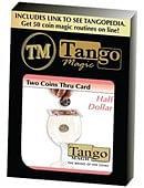 Two Coins Thru Card Trick