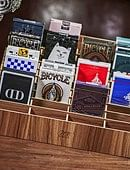 Wooden Playing Card Display Stand (Large | 40-Decks) Deck of cards